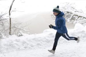 Joggen im Winter bei Kälte