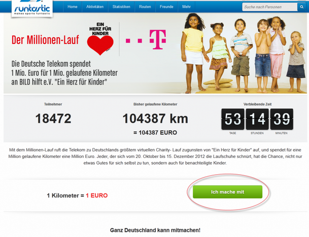 Millionenlauf - Laufen für einen guten Zweck – Die Spendenaktion der Deutschen Telekom