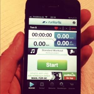 3.Schritt - Mit App ab sofort Trainingskilomter für den Millionenlauf zählen