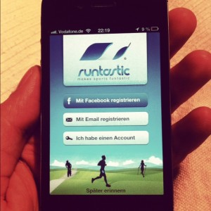 1. Schritt - Lauf App runtastic registrieren