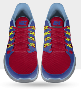 Frontalansicht des Nike Free 5.0+ ID Laufschuh