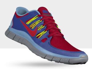 Seitenansicht des Nike Free 5.0+ ID Laufschuh