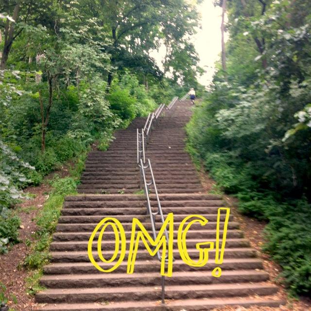 Treppenlaufen im Volkspark Friedrichshain