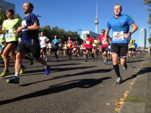 Teilnehmer beim Marathon in Berlin