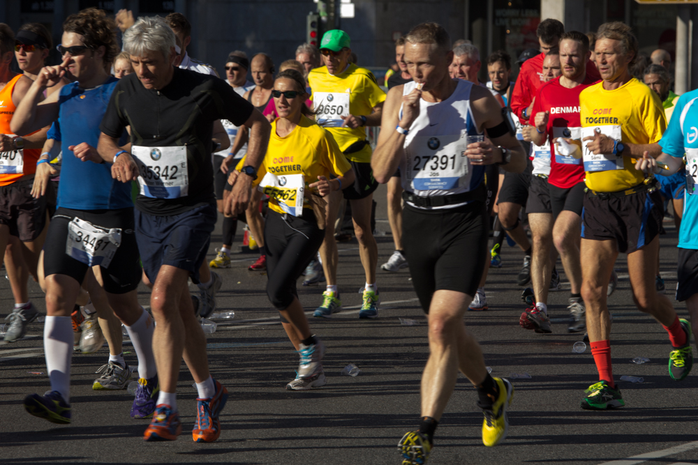 Läufer beim 40. Berlin Marathon