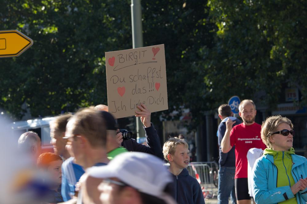 Birgit: Du schaffst das. Ich liebe dich (Anfeuern beim 40. Berlin Marathon)