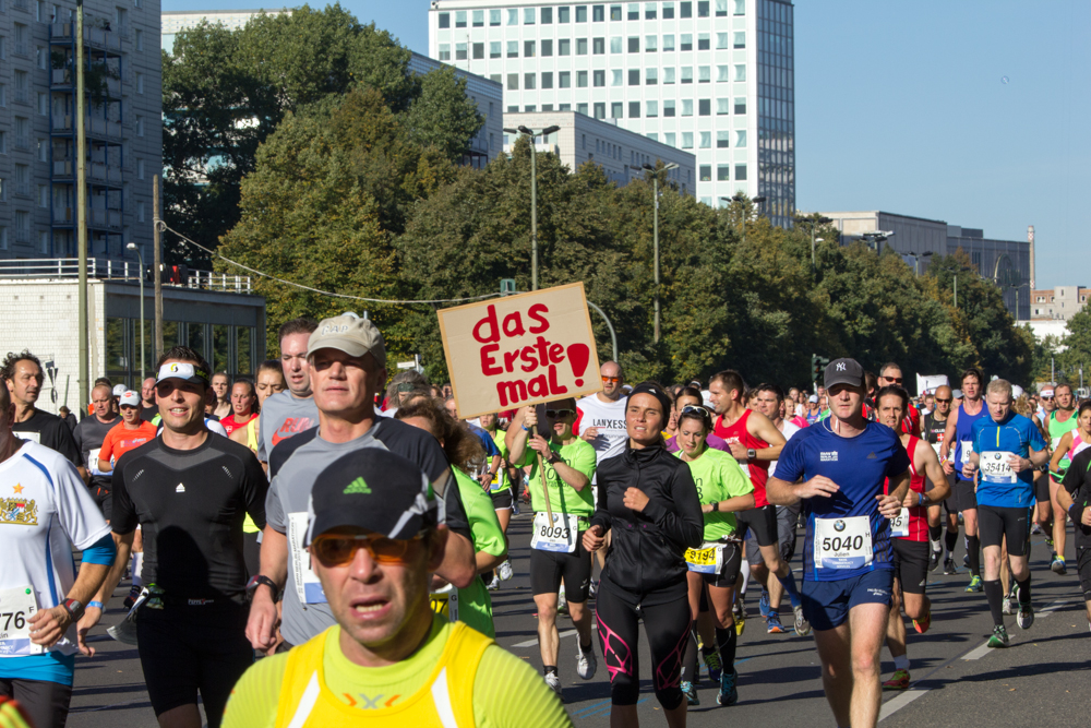 Das erste mal (Anfeuern beim 40. Berlin Marathon)