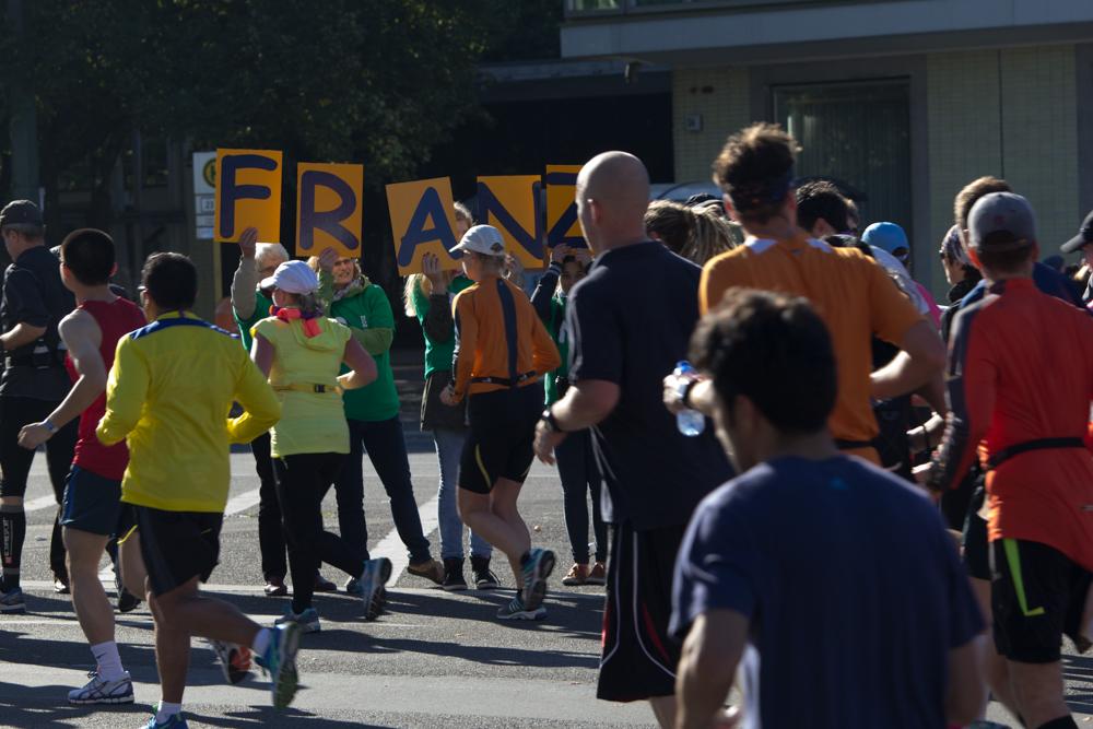 Franzi !!! (Anfeuern beim 40. Berlin Marathon)