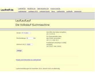 Laufveranstaltungen für Laufanfänger auf lauftreff.de finden