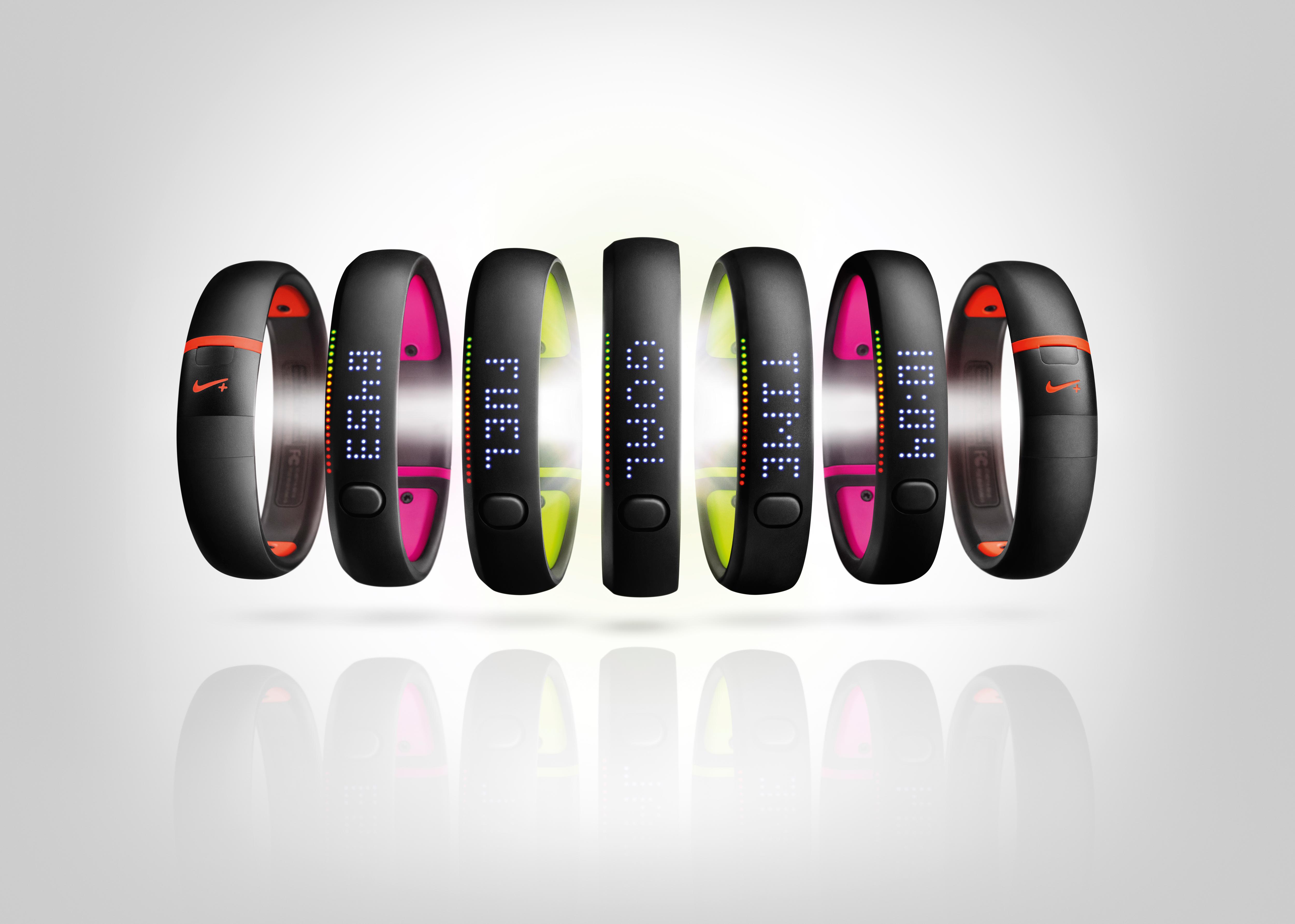 Nike+ Fuleband in verschiedenen Farben