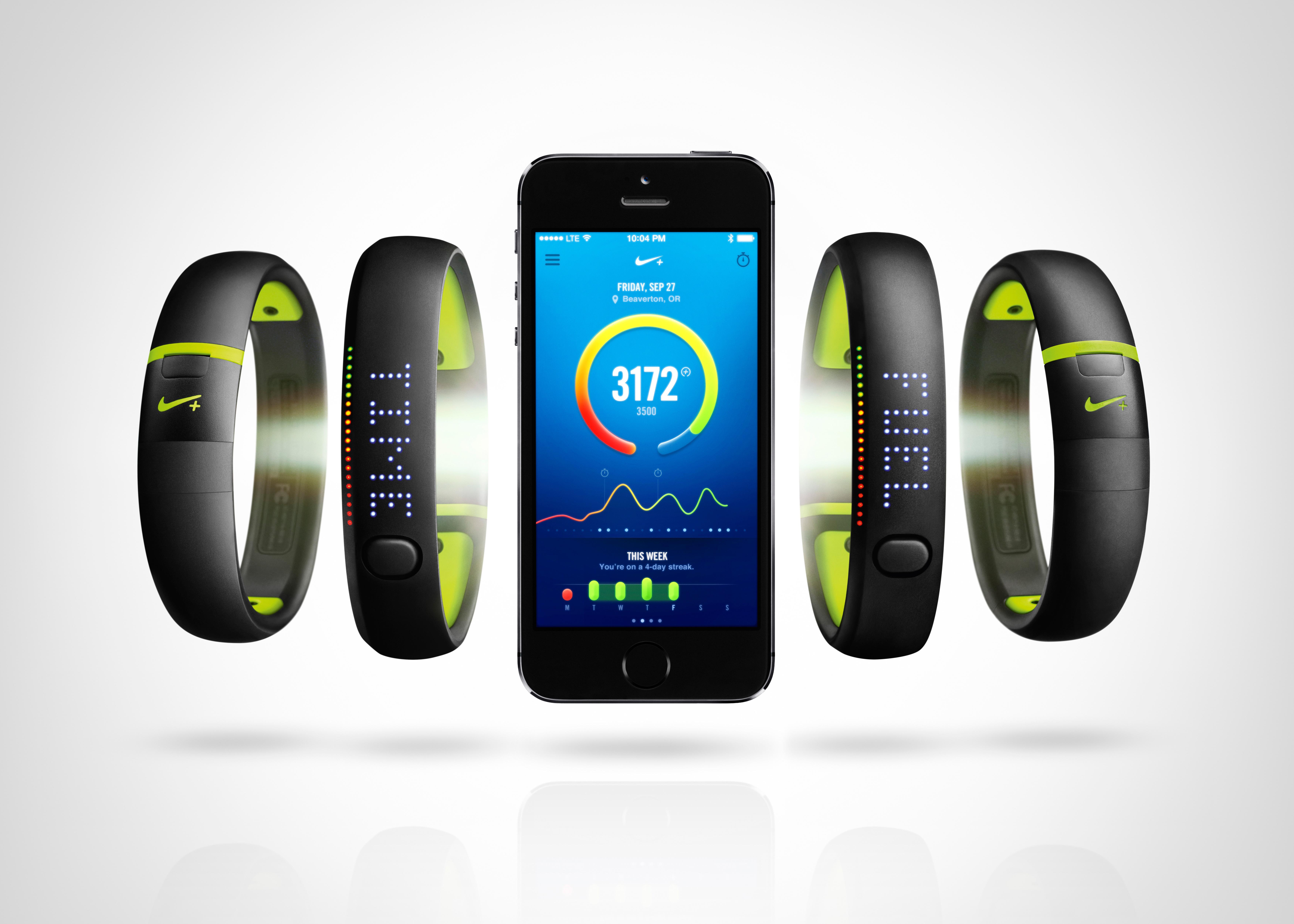 Nike+ Fuelband verbinden mit Smartphone