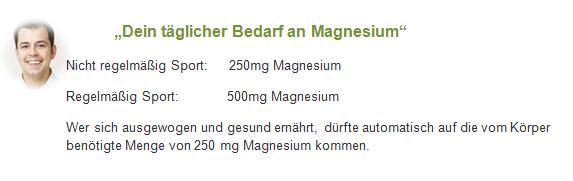 Dein täglicher Bedarf an Magnesium