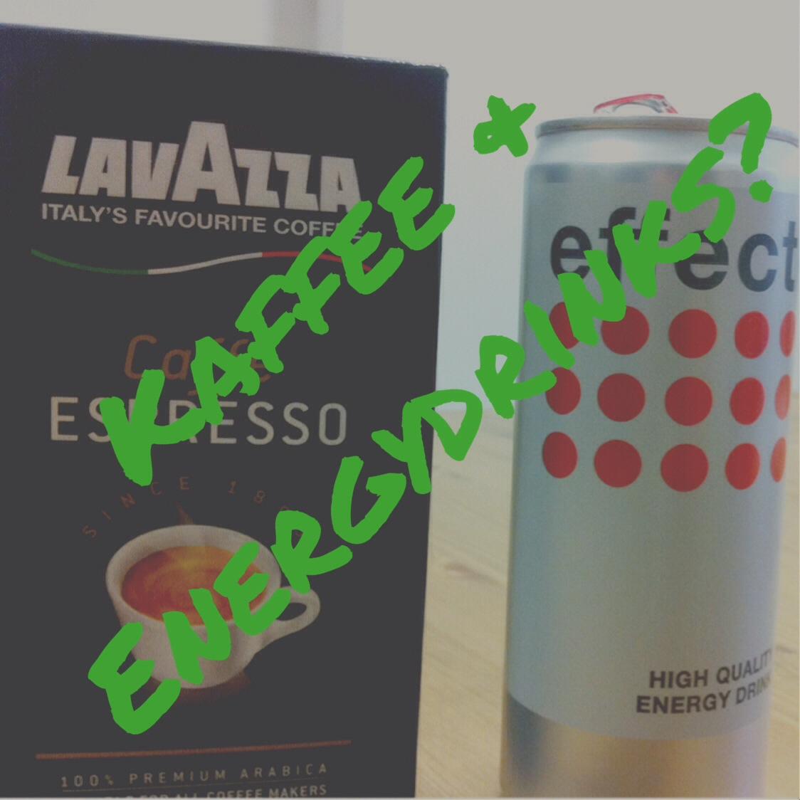 Kaffee und Energydrink Joggen