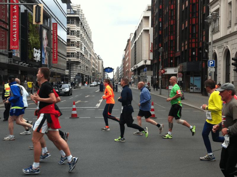 34. BIG 25 in Berlin: Straßensperrung für die Teilnehmer
