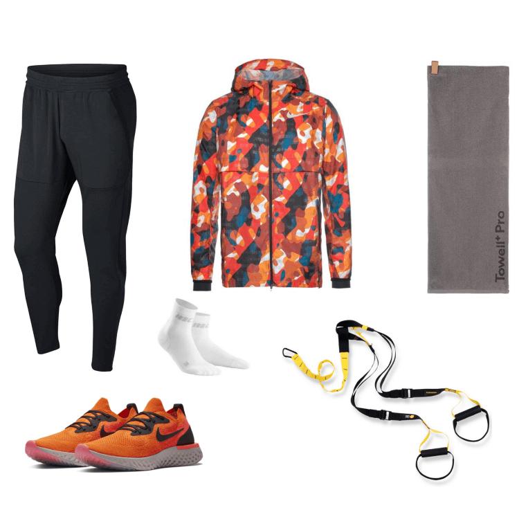 Laufbekleidung für Männer im Sommer.
