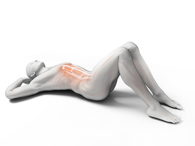 3d rendered illustration of a man doing sit-ups
