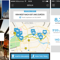 Mit der Salomon Citytrail App Städte laufend erleben