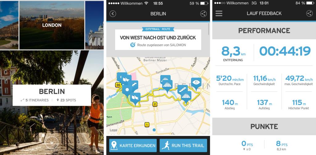 Salomon Citytrail App