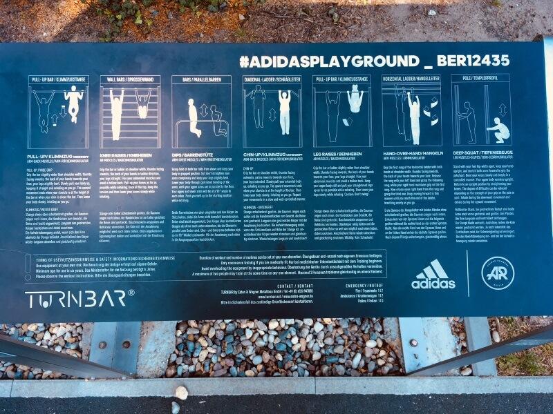 adidas playground berlin übungen