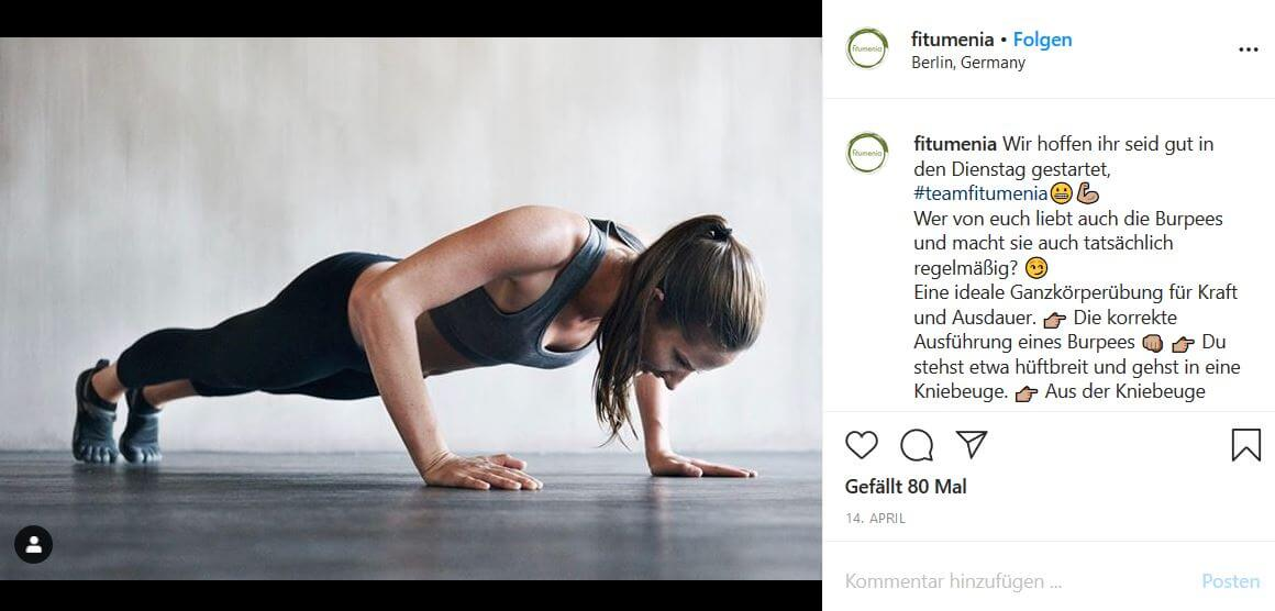 Online Fitnessstudio Fitumenia: Training trotz Corona Pandemie