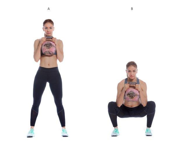 Kettlebell Übung Goblet Squat